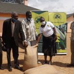 DONATION OF FOOD TO FLOOD VICTIMS IN KWANZA Donation of 50 bags of Maize to flood victims in Trans-nzoia County, Kwanza Sub County presided over by Senior Corporate Communication Officer Ms Jane Gitau on behalf of the Ag Managing Director Mr Fred Oloibe & Member of Parliament Kwanza Mr Ferdinand Wanyonyi.